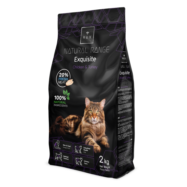 REX CAT NATURAL RANGE STERILIZED PILETINA  PURICA 12 KG promotivna cijena!