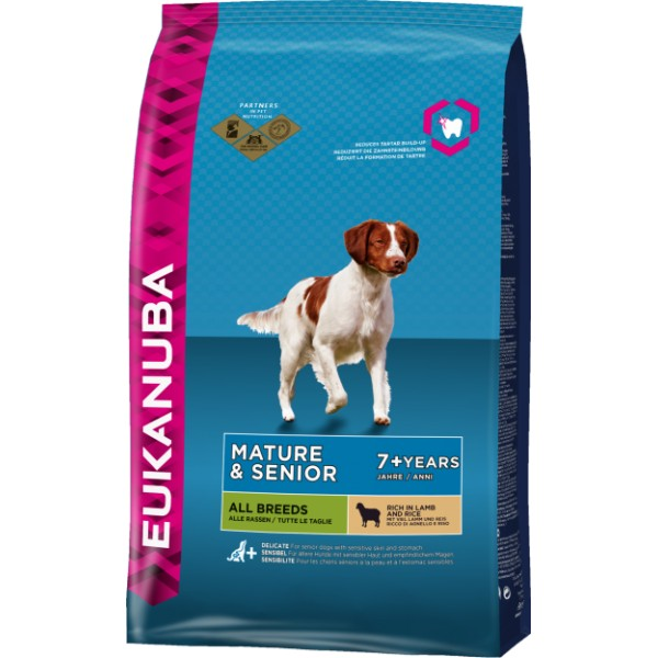 EUKANUBA Mature & Senior rich in Lamb & Rice  12kg