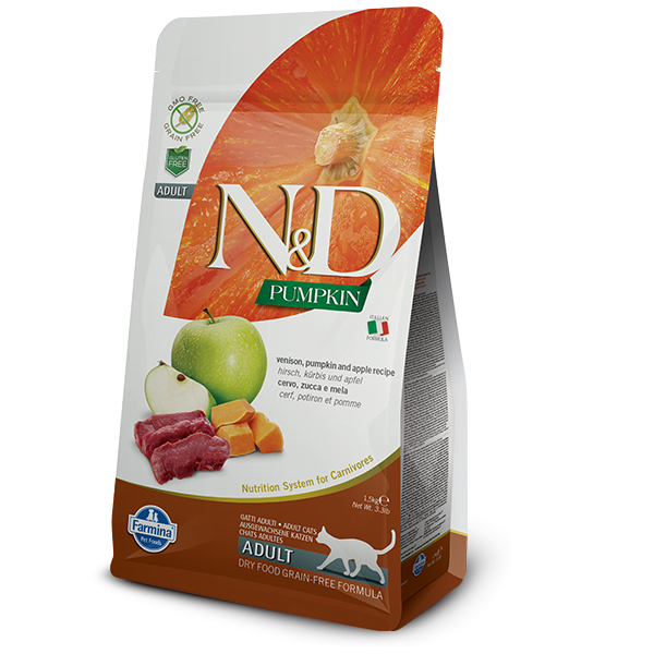 N&D CAT GF Pumpkin Venison & Apple 1,5kg