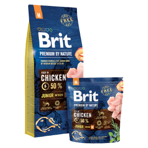 BRIT Premium by Nature JUNIOR Medium Breed, 15kg