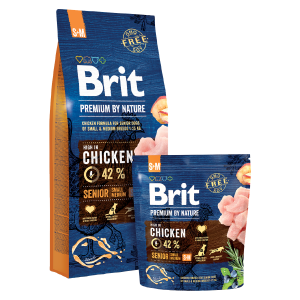 BRIT Premium by Nature SENIOR Small/Medium Breed 15kg
