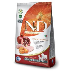 N&D PUMPKIN GF ADULT MED/MAXI - Chicken & Pomegranate 12kg