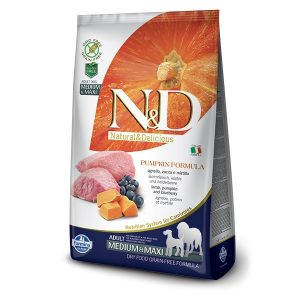 N&D PUMPKIN GF ADULT MED/MAXI - Lamb & Blueberry 2,5kg 1