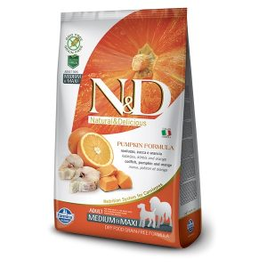 N&D PUMPKIN GF ADULT MEDMAXI - Codfish & Orange 2,5kg