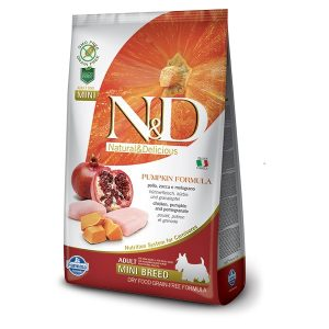 N&D PUMPKIN GF ADULT MINI - Chicken & Pomegranate 2,5kg