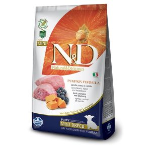 N&D PUMPKIN GrainFree PUPPY MINI - Lamb & Blueberry 800g