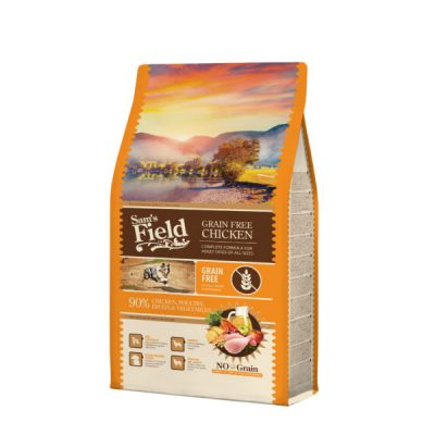 SAM´S FIELD ALL SIZE ADULT GRAIN FREE PILETINA 13KG