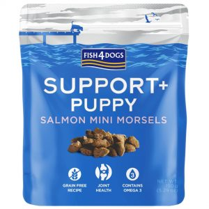 Fish4Dogs Support+ Puppy – losos 150g